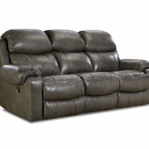 Sammie's Furniture, HomeStretch, Hayden reclining console leather sofa, grey
