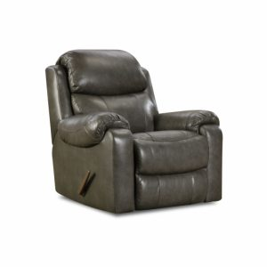 Sammie's Furniture, HomeStretch, Hayden reclining console leather recliner, grey
