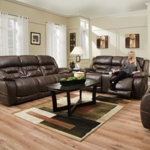 Sammie's Furniture, HomeStretch, Enterprise, power reclining sofa, Walnut