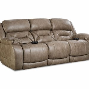 Sammie's Furniture, HomeStretch, Enterprise Power Reclining Sofa, mushroom light brown/grey