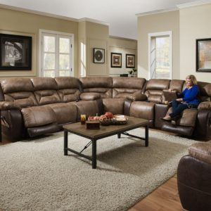 Sammie's Furniture, HomeStretch, Enterprise power reclining, Saddle