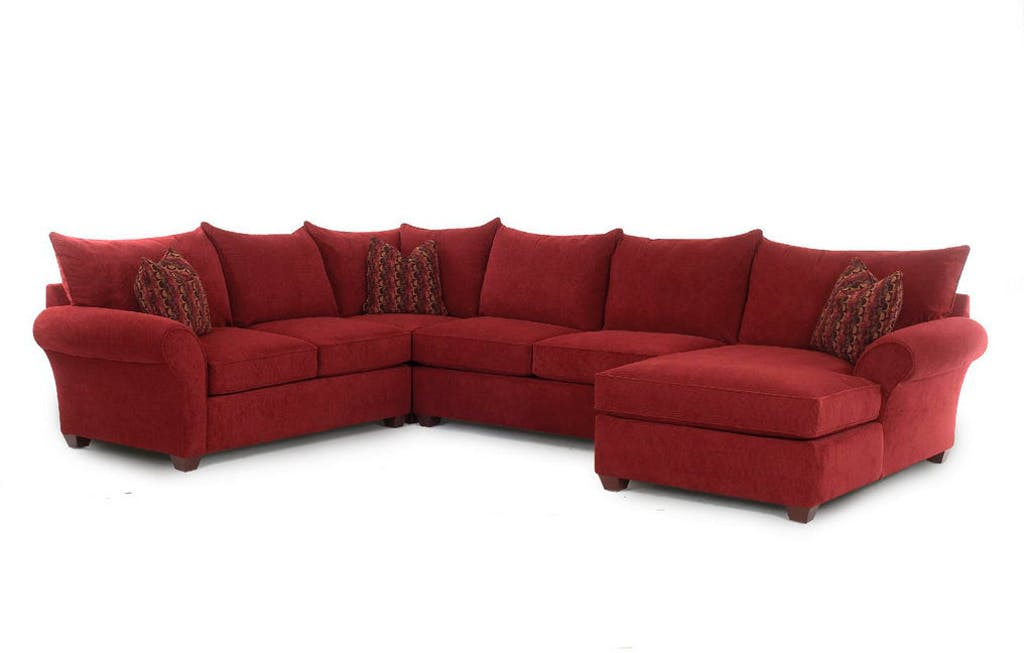 Sammie's Furniture, Custom made furniture, red, Living Room made in America, sectionals