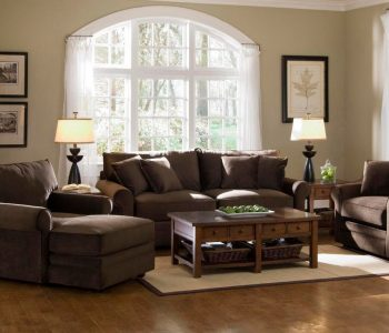 Sammie's Furniture, Custom made furniture, solid wood, brown, sofa, loveseat, Living Room made in America