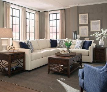 Sammie's Furniture, Custom made furniture, solid wood, white, blue, Living Room made in America, sectionals