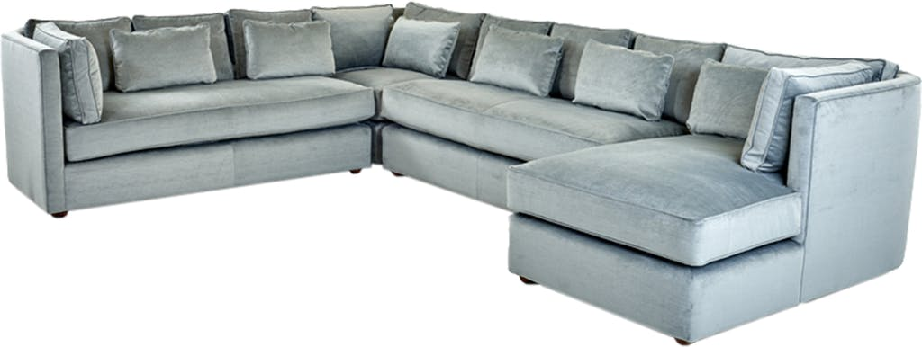 Sammie's Furniture, Custom made furniture, Silver, Living Room made in America, sectionals