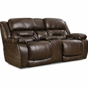 Sammie's Furniture, HomeStretch, Enterprise, power reclining loveseat, Walnut