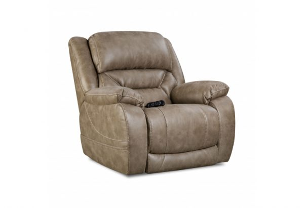 Sammie's Furniture, HomeStretch, Enterprise Power Recliner, mushroom light brown/grey