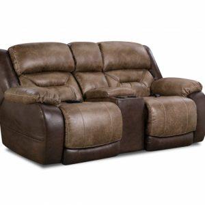 Sammie's Furniture, HomeStretch, Enterprise power reclining loveseat, Saddle
