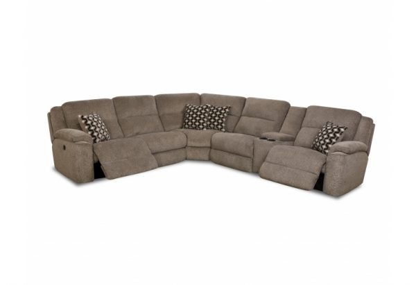 Sammie's Furniture, HomeStretch, power reclining wedge sectional, grey