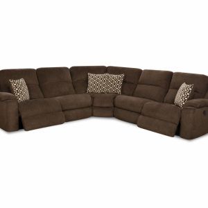 Sammie's Furniture, HomeStretch, power reclining wedge sectional, brown