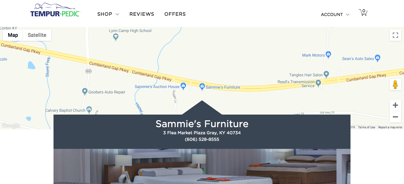 Sammie's Furniture, Tempur-Sealy Store Locator